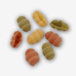 Our Italian Inspired Seashells (Conchiglie) Tri-Color Pasta is pressed through bronze dies & dried slowly. The twists & turns are beautiful & delicious!
