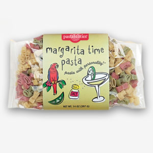 Our cute margarita time pasta shapes make a day at the beach complete. A Lemon Shallot Sauce recipe is included on the back label. Serves 6-8. Shop NOW!