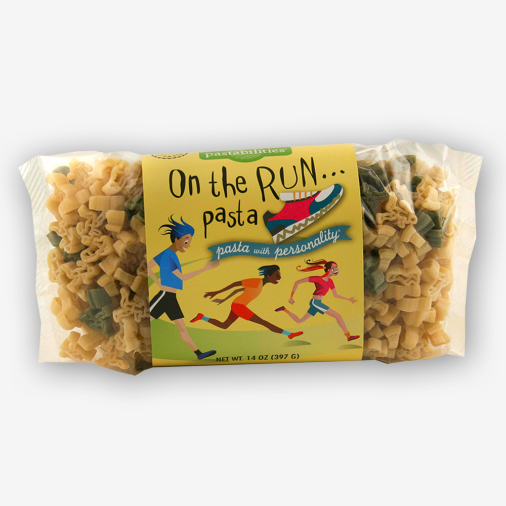 Carb up before the big race with our On the Run Pasta! A perfect gift for the runner in your life. Yummy Tuna Pasta Salad recipe included on the back label.