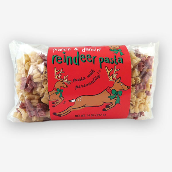 Which reindeer is your favorite? Rudolph? Prancer? Think of neighbors, friends, and stocking stuffers this year! Reindeer Pasta makes a great gift.