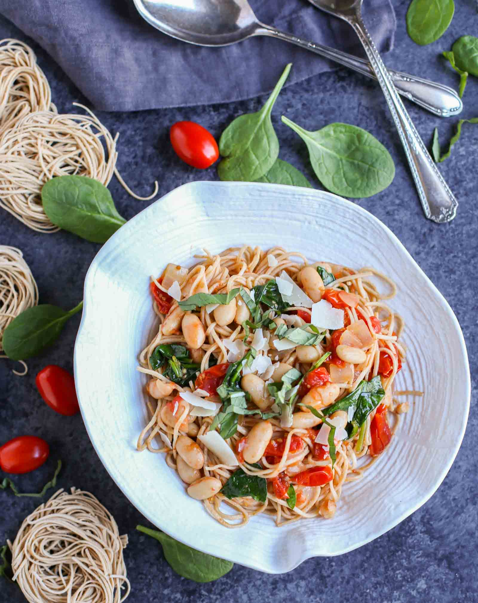 ... , White Beans, and Spinach with Whole Wheat Pasta - The Pasta Shoppe