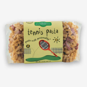 Serve up! our Tennis Pasta and bring fun to your next event! Our Sesame Pasta recipe is included on the label and is a hit. Makes a great gift! Shop NOW!