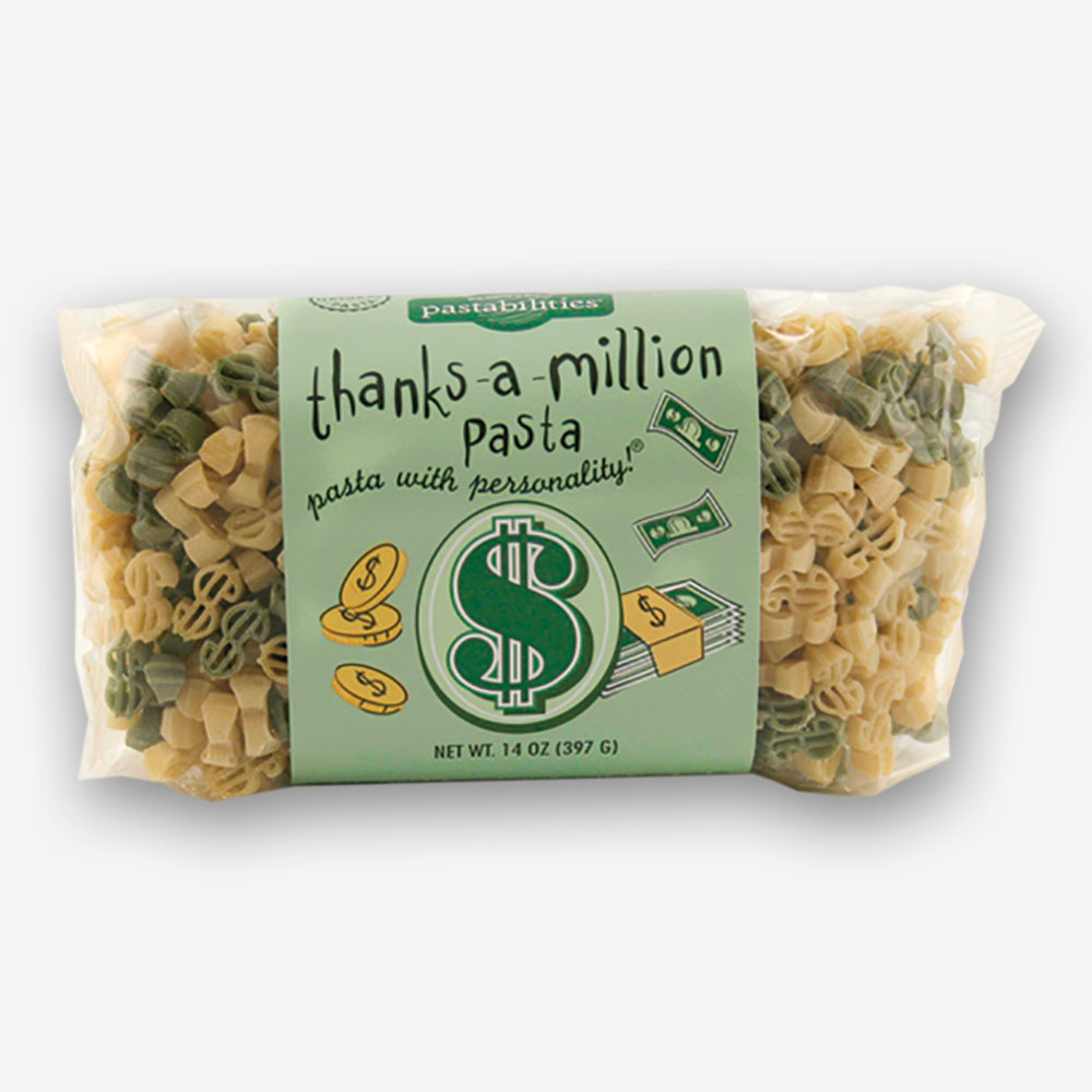 """Be creative when saying """"""""Thank You""""! Our Thanks a Million Pasta brings smiles to any meal! Spinach, Asparagus, and Cashew Pasta recipe included."""