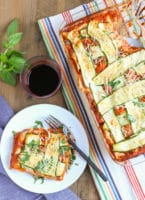 Zucchini Lasagna | Have you ever seen such a pretty lasagna? The Zucchini ribbons woven into a lattice pattern adds to the decadent taste of this dish! A crowd favorite for any event! WorldofPastabilities.com