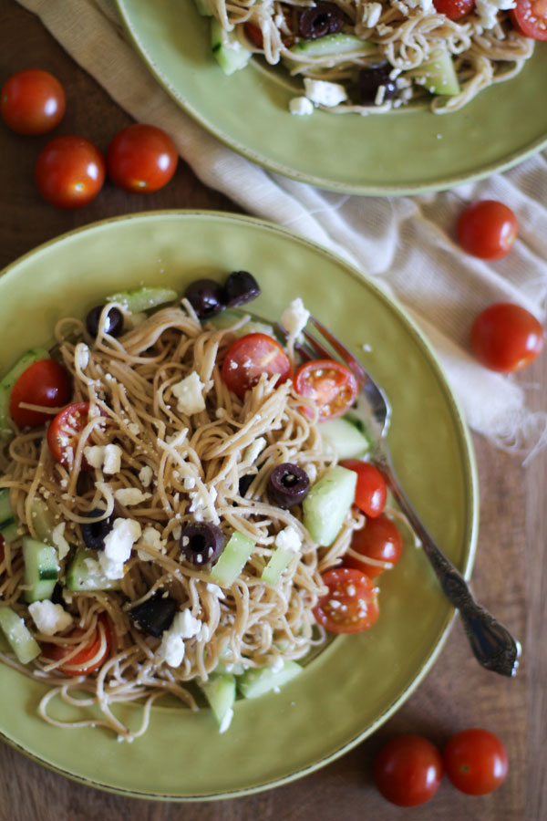 Angel Hair Greek Pasta | WorldofPastabilities.com