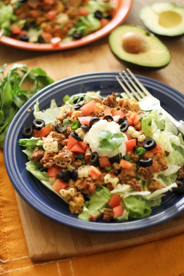 Taco Pasta Salad-3 | WorldofPastabilities.com