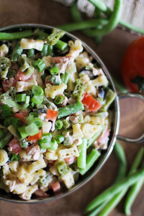 Bowl of Tuna Pasta Salad | WorldofPastabilities.com