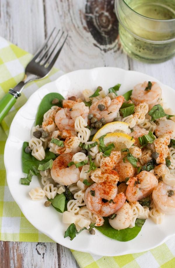 Lemony Shrimp and Scallop Pasta with Basil   WorldofPastabilities.com
