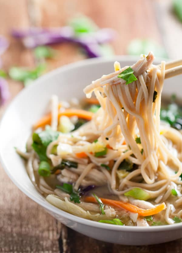 Miso Broth Bowl with Whole Wheat Noodles | WorldofPastabilities.com