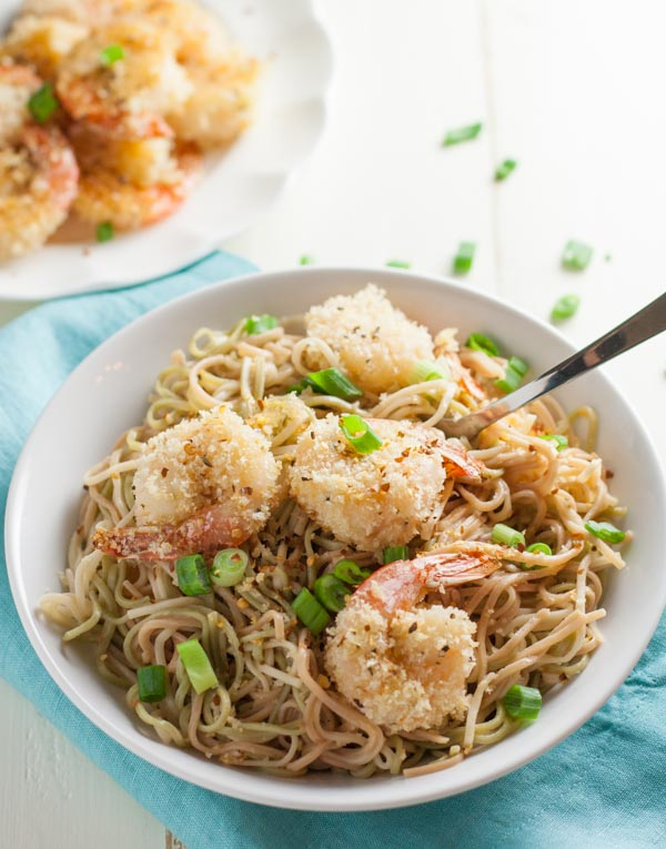 Oven Fried Bang Bang Shrimp Pasta | WorldofPastabilities.com