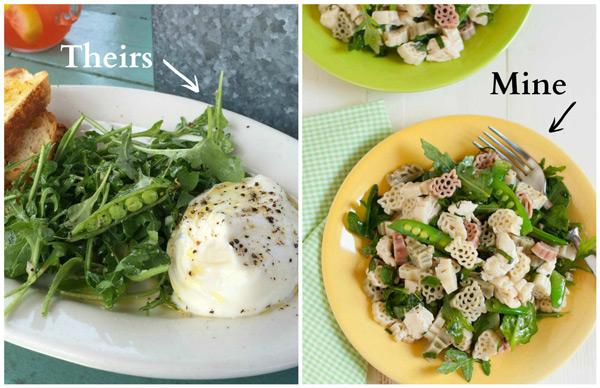 Arugula, Spinach, and Mozzarella Pasta Salad Comparison | WorldofPastabilities.com