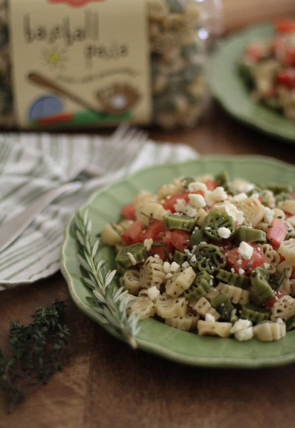 Pasta with Tomatoes, Feta, and Herbs | WorldofPastabilities.com
