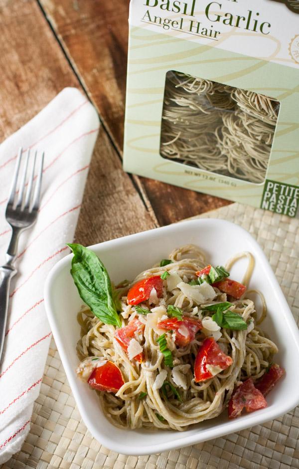 Quick Fresh Tomato and Goat Cheese Pasta   WorldofPastabilities.com