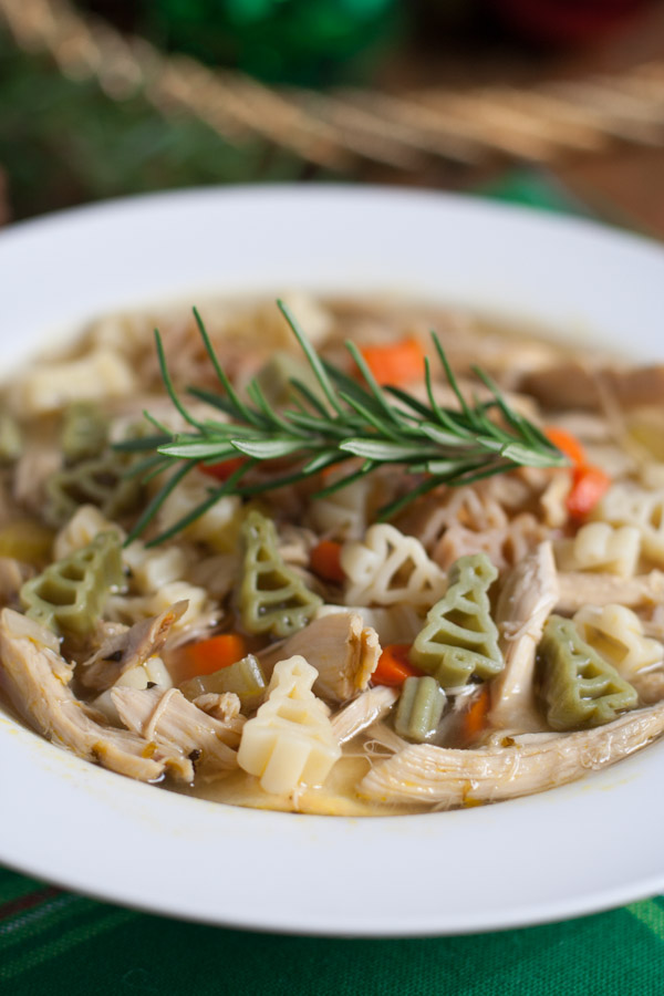Quick Holiday Chicken Noodle Soup   WorldofPastabilities.com