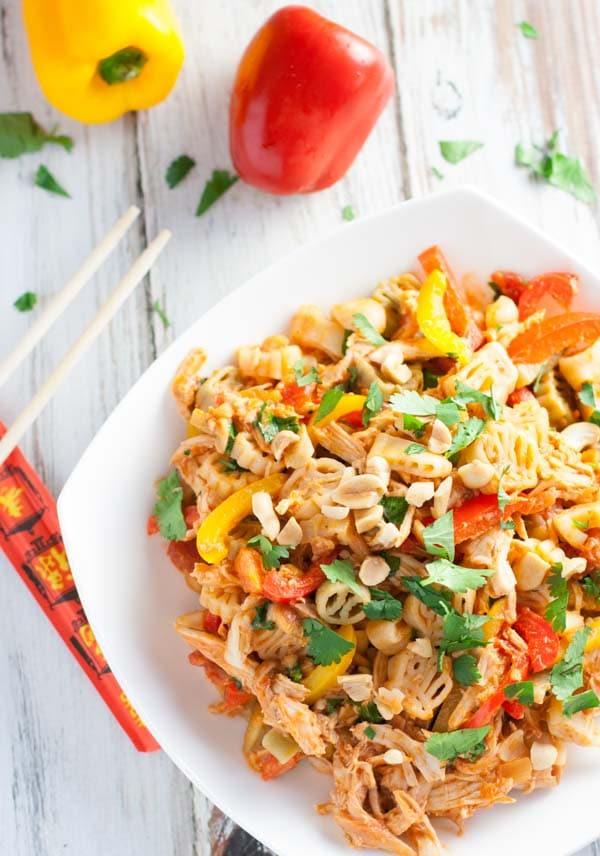 Thai Chicken Pasta | WorldofPastabilities.com